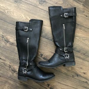 G by Guess Knee High Herly Harness Boot